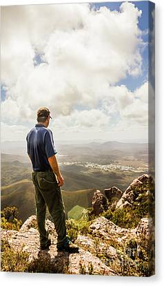 Australian Explorer Sightseeing Mt Zeehan Canvas Print by Jorgo Photography - Wall Art Gallery