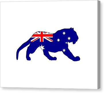 Australian Flag - Tiger Canvas Print