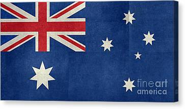 Australian Flag Vintage Retro Style Canvas Print by Bruce Stanfield