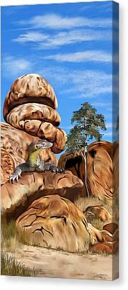 Australian Goanna Canvas Print