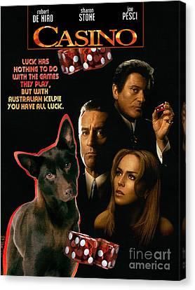 Australian Kelpie -  Casino Movie Poster Canvas Print