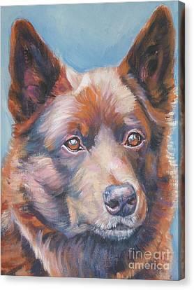 Australian Kelpie Canvas Print by Lee Ann Shepard