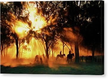 Australian Morning At Sunrise Canvas Print