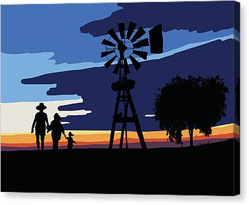 Australian Outback Sunset Canvas Print by Kate Farrant