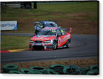 Australian Racing Car Driver Craig Lowndes Canvas Print by Cheryl Hall