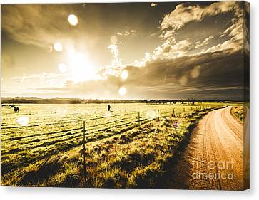 Australian Rural Dirt Road  Canvas Print by Jorgo Photography - Wall Art Gallery