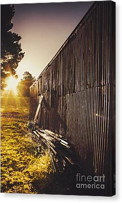 Australian Rural Farm Shed In Waratah Tasmania Canvas Print by Jorgo Photography - Wall Art Gallery