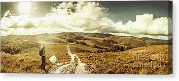 Traveller Canvas Print - Australian Rural Panoramic Landscape by Jorgo Photography - Wall Art Gallery
