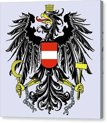 Canvas Print featuring the drawing Austria Coat Of Arms by Movie Poster Prints