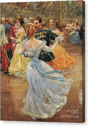 Austria, Vienna, Emperor Franz Joseph I Of Austria At The Annual Viennese Ball  Canvas Print