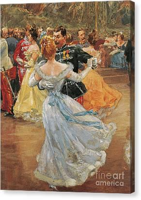 Debutante Canvas Print - Austria, Vienna, Emperor Franz Joseph I Of Austria At The Annual Viennese Ball  by Wilhelm Gause