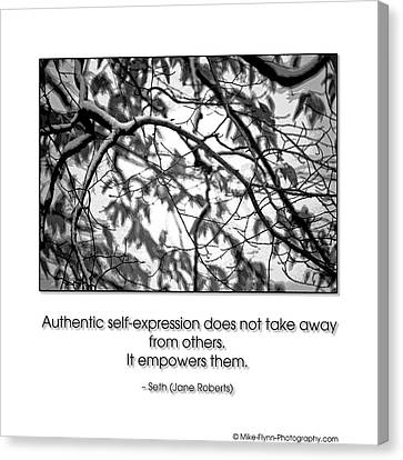 Authentic Self Expression Canvas Print