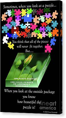 Autism, The Outside Package 2 Canvas Print by Donna Cavanaugh