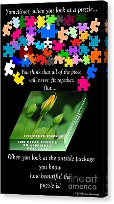 Autism, The Outside Package Canvas Print by Donna Cavanaugh
