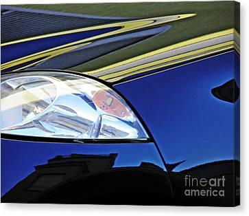Auto Headlight 190 Canvas Print by Sarah Loft