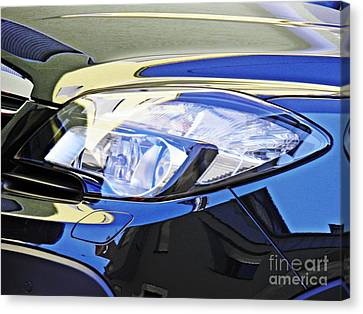 Auto Headlight 191 Canvas Print by Sarah Loft