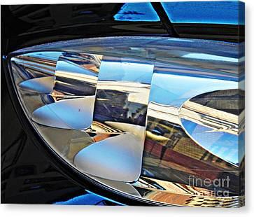 Auto Headlight 193 Canvas Print by Sarah Loft