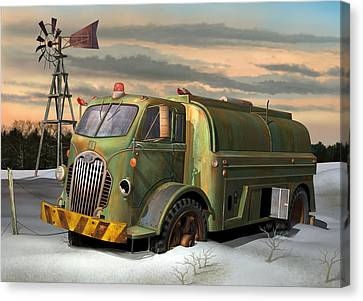 Autocar Waterwagon Canvas Print by Stuart Swartz