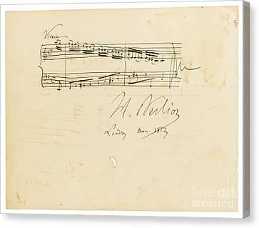 Autographed Canvas Print - Autograph Album-leaf For Douard Silas by Celestial Images