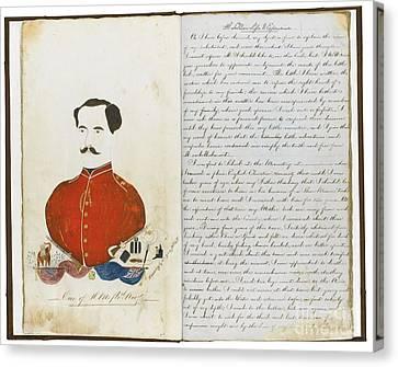Autographed Canvas Print - Autograph Manuscript Memoir by MotionAge Designs