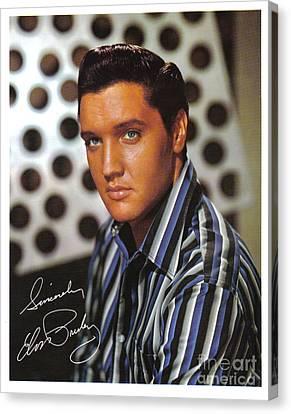 Autographed Elvis Canvas Print by Pd