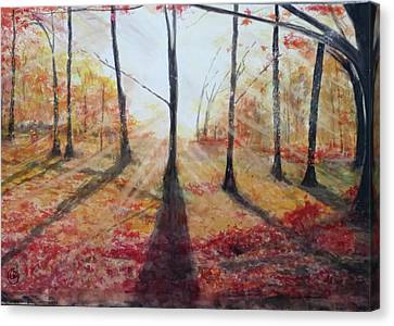 Automn Light Canvas Print by Annie Poitras