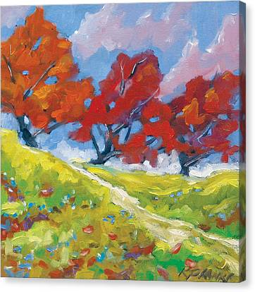Automn Trees Canvas Print by Richard T Pranke