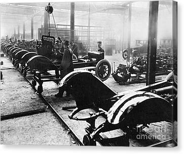Automobile Manufacturing Canvas Print by Granger