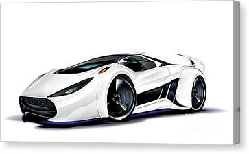 Canvas Print featuring the drawing Automobili Lamborghini Concept by Brian Gibbs
