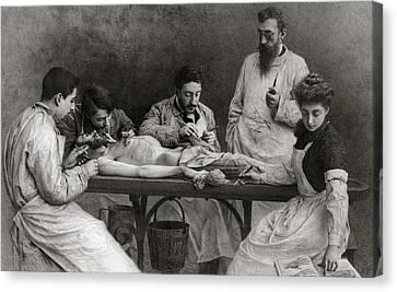 Autopsy Canvas Print by Camille Felix Bellanger