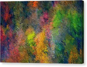 Autum Hillside Canvas Print by David Lane