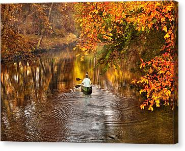 Autumn - Landscape - Exploring The Unknown  Canvas Print by Mike Savad