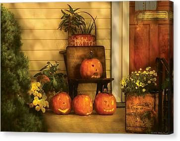 Autumn - Pumpkin - The Jolly Bunch Canvas Print by Mike Savad