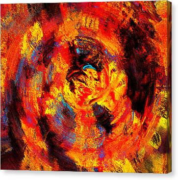 Swirling Desires Canvas Print - Autumn 10-2 Abstract  by Abstract Angel Artist Stephen K