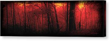 Hdr Landscape Canvas Print - Autumn 2015 Panorama In The Woods Pa 06 by Thomas Woolworth