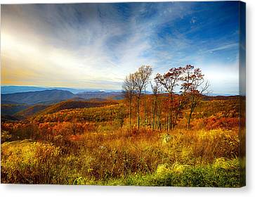 Smokey Mountain Drive Canvas Print - Autumn Afternoon by Renee Sullivan