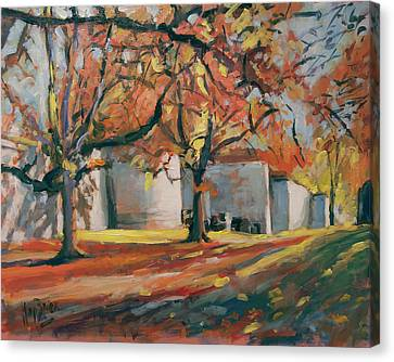 Autumn Along Maastricht City Wall Canvas Print by Nop Briex
