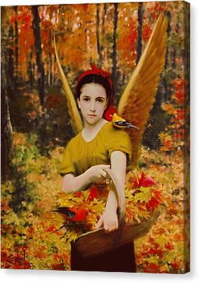 Autumn Angels Canvas Print by Stephen Lucas