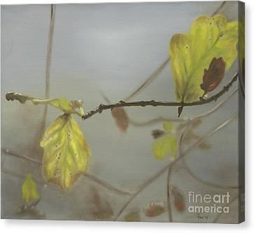 Canvas Print featuring the painting Autumn by Annemeet Hasidi- van der Leij