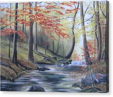 Autumn At Abrams Creek Canvas Print by RJ McNall