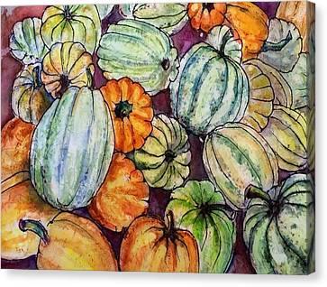 Autumn At Beth's Farmstand Canvas Print
