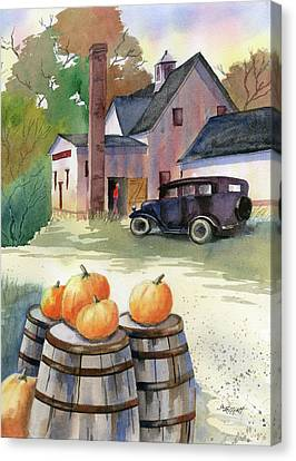 Autumn At Clyde's Cider Mill Canvas Print by Marsha Elliott