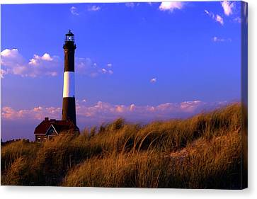 Autumn At Fire Island Lighthouse Canvas Print by Rick Berk