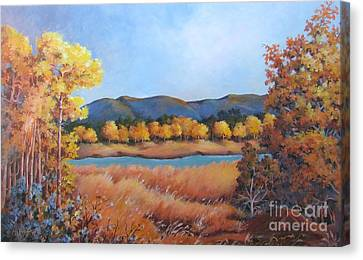 Canvas Print featuring the painting Autumn At Fraser Valley 2 by Marta Styk