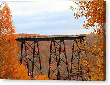 Autumn At Kinzua Bridge Canvas Print by Rick Morgan