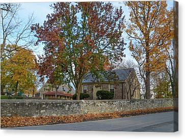 Autumn At Plymouth Meeting Friends Canvas Print by Bill Cannon