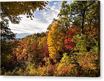 Autumn At Roaring Fork Canvas Print by Lana Trussell