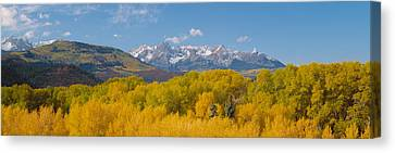 Autumn At Sneffels Mountain Range, San Canvas Print by Panoramic Images