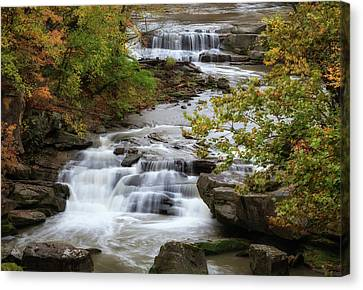 Canvas Print featuring the photograph Autumn At The Falls by Dale Kincaid