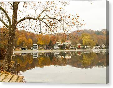 Autumn At The Housatonic Canvas Print by Karol Livote